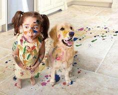 A painted photo shoot, haha that's a great idea :)