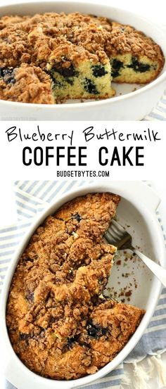 I did a bad thing. I'm trying to be all good and healthy, but I accidentally made this Blueberry Buttermilk Coffee Cake this morning. Oops. Sorry (not sorry). This big, fluffy coffee cake is studded w