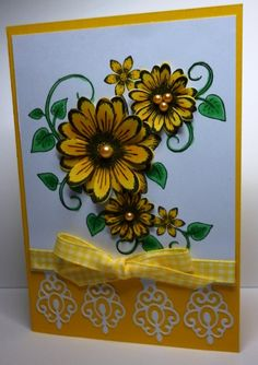 Sunshine Yellow by poppypoodle - Cards and Paper Crafts at Splitcoaststampers