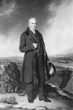 09/27/1825 - George Stephenson operated the first locomotive that hauled a passenger train. Portait of George Stephenson, circa 1830.  George Stephenson (9 June 1781 – 12 August 1848) was an English civil engineer and mechanical engineer who built the first public inter-city railway line in the world to use steam locomotives, the Liverpool and Manchester Railway which opened in 1830.