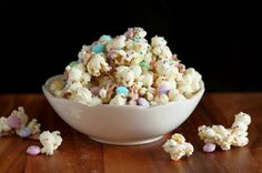 Funfetti Popcorn (or Bunny Bait for Easter).  http://www.cookingclassy.com/2012/03/funfetti-popcorn-or-bunny-bait-for-easter/