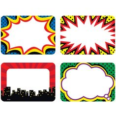 Superhero Name Tags/Labels. Boom! Pow! Wow! Check out our selection of #superhero classroom decor!