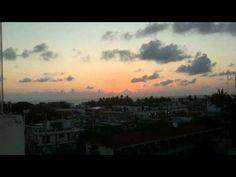 Sunrise over Isla Mujeres Mexico Timelapse