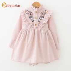 Waymine Toddler Kids Girls Floral Print Dresses Cotton Princess Clothes Outfits