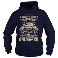 DRUMMER FOREVER THE TITLE T-Shirts, Hoodies. Check Price Now ==►…