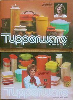 Vintage Tupperware: Remember the Tupperware Party Games? Vintage Tupperware, Vintage Kitchenware, Vintage Advertisements, Vintage Ads, Vintage Food, 70s Party, My Childhood Memories, 90s Childhood, Oldies But Goodies