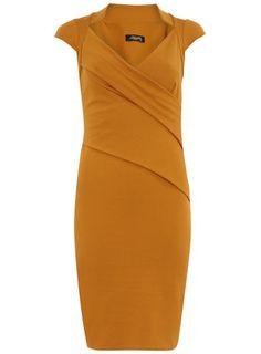 Mustard collared dress