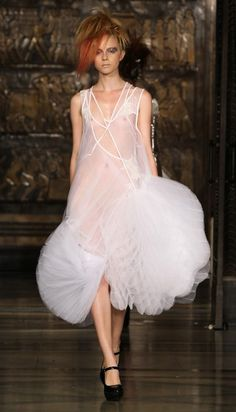 Tulle Origami dress with collage of vest tops and sequins