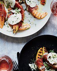 Grilled Cantaloupe with Prosciutto and Mozzarella Recipe on Food & Wine
