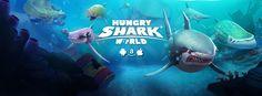 Our lovely Hungry Shark World splash screen!