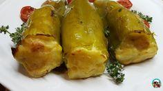 Pimientos italianos rellenos de tortilla | Cocina