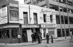 Austins Victuallers and John Barry's Shoe Shop, Marlborough Street 1974. Aftermath of the Dublin bombings of May 1974.