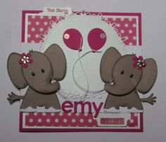Emy 2 jaar Bday Cards, Kids Birthday Cards, Pinterest Cards, Marianne Design Cards, Baby Shower Cards, Animal Cards, Love Cards, Baby Design, Kids Cards