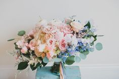 rose quartz inspired bouquet | Photography: Katie Pritchard | Florals + Design: The Bloom Of Time