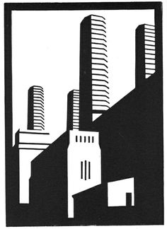 Paul Catherall bold linocuts of architectural landmarks Building Illustration, Illustration Art, Art Deco Stil, Bild Tattoos, Architectural Prints, Linoprint, A Level Art, Linocut Prints, Woodblock Print