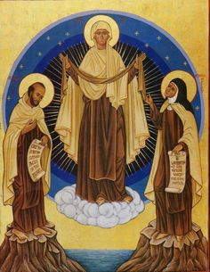 Our Lady of Mt. Carmel and the Holy Reformers {love this!}