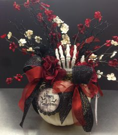 Nevermore Halloween collection, 2014 floral design, Tara Powers, Michaels of Midlothian, Va.
