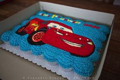 Image result for lightning mcqueen cupcake cake