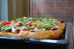 Virtually Homemade: Taco Pizza with Spicy Sour Cream