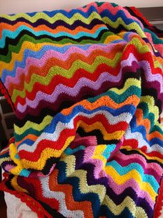 stripe throw - great colors