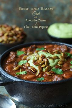 Beef and Bacon Chili - with tender beef, bacon and super tender pinto ...