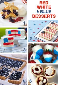 Memorial Day Party Planning, Food, Invitations - Red, White and Blue Desserts and more | TheInvitationShop.com
