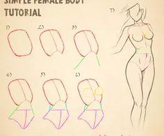Simple Female Body Tutorial by deli-Yu on deviantART