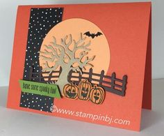 Sneak Peak Stampin' Up! Holiday catalog 2016.  Spooky Fun with Halloween Scenes Edgelits.  #stampinbj.com