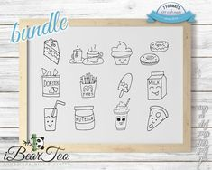 You can use our Food SVG files for making stickers for planners or scrapbooks (using cutters like Cricut or Silhouette Cameo), various digital design or for printing (pillows, t-shirts, decals) and so on and so forth... The product images you see here display the files in various mockups, to How To Make Stickers, Clear Stickers, Making Stickers, Vector File, Svg File, Rabbit Drawing, As You Like, Scrapbooks, Planner Stickers