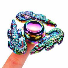 ECUBEE Spinner Crocodile with Diamond EDC Fidget Spinner Hand Spinner Reduce Stress Gadget