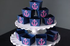 Anchor Candy Cups, Nautical Party Supplies, Nut Cups, Nautical Favors, Party, 12 Pcs. $12.00, via Etsy.