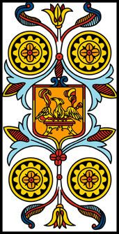 The Four of Coins - Tarot de Marseille rebuilt by Camoin and Jodorowsky