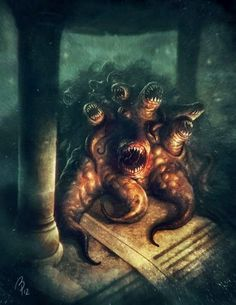 Borja Pindado deviantart ilustrações sombrias terror cósmico lovecraftiano HP Lovecraft mitos Cthulhu - Ghatanothoa