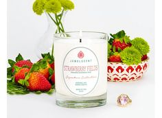 Each Signature Strawberry Fields Candle contains one mystery ring valued at $15 to $7,500. This candle features a higher minimum jewelry value than our Classic Collection.