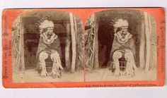 Stereoview Pawnee Indian Chief Peter La Cherre J Carbutt 306 War Bonnet Hut | eBay