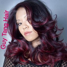 Deep red ombre by Guy Tang
