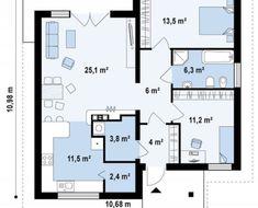 Proiecte de case care costa cat o garsoniera intr-un oras mare Good House, Tiny House, Pool House Plans, Flat Ideas, Facade House, Design Case, Architecture Plan, Cottage Homes, Sweet Home