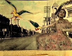 The Countess of Wings vintage style original  mixed media painting by MaudstarrArt, aka Canadian artist Heather Murray