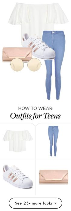 """do you remember we sitting there by the water"" by emmyjoe222 on Polyvore featuring Valentino, New Look, adidas, Dorothy Perkins and Victoria Beckham"