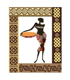 African Woman Afrocentric Decor Afro Painting  African by iQstudio, $15.00
