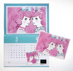 calendar / client: Wacom,MdN  postcard, sticker / client: Shibuya Girls Pop  illustration: Akira Ebihara 蛯原あきら