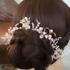 Excited to share this item from my #etsy shop: Bridal Hair Vine Cherry Blossom, Woodland Rustic Wedding Halo, Rose Gold Flower Crown, Boho Wedding, Flower Girl, Bridesmaid, holy Communion #accessories #hair #blushpinkvine #rosegoldhairvine #floralflowercrown #cherryblossom #bunwrap #bridalwreath #flowerhairvine Boho Wedding Flowers, Floral Flowers, Halo, Or Rose, Rose Gold, Cherry Blossom Wedding, Bridal Hair Vine, Boho Bride, Flower Crown