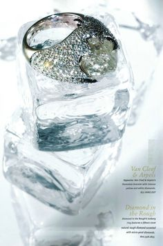 Rough diamond Iceberg cocktail ring is featured in this very cool Quest feature.