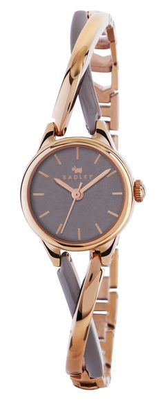 Radley Ladies Bayer Two Tone Rose Gold And Grey Bracelet Watch RY4234