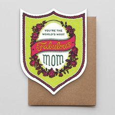 Fabulous Mom Badge $5.50