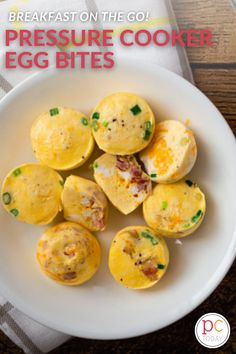 These cheesey-eggy bites are a favorite grab-and-go breakfast, and so easy to personalize to your taste. #PressureCookingToday #InstantPot #instantpoteggs #instantpoteggmuffins #easyeggmuffins