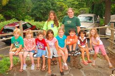 the kids of Iao Valley Park on my board