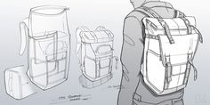 Sketches w elike / Bag / Digital Sketch / Camera Bag / Thule / at behance