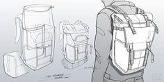 Sketches w elike / Bag / Digital Sketch / Camera Bag / Thule / at behance