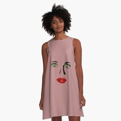 #greeneyeswoman, #greeneyesstickers, #greeneyest-shirts, #greeneyesgraphic #design, #beautifulgreeneyes, #beautiful facesticker, #lovelyfacestickers, #bestsellerstickers, #redlipstickers, #green #eyes #facet-shirts, #facetshirts #mugs #duschevorhang, #faceyogatanktops, #beautifulface #yogatanktopsladies, #ladiesyogatanktop, #facegraphictshirts, #fac illustrations, #lipsstickers, #lippensticker, rote lippen t shirt, sticker, #funny gesicht stickers, lustigestickers mit… I Dress, Shirt Dress, Line, Designer Dresses, Summer Dresses, Tank Tops, Yellow, Beautiful, Fabric